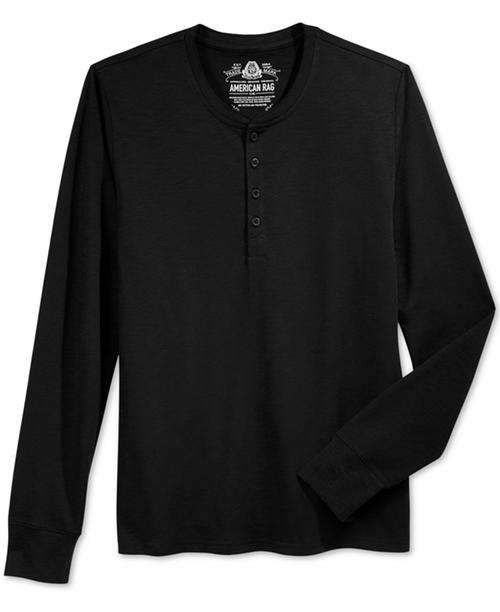 Men's Henley Shirt by American Rag  in Jason Bourne