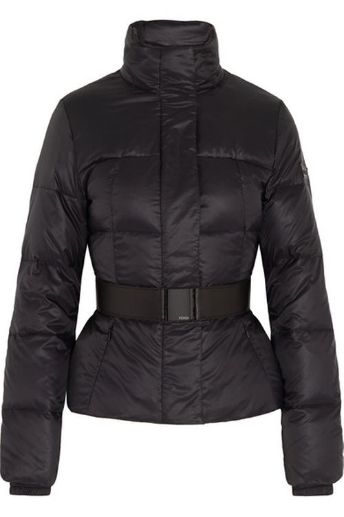 Belted Quilted Shell Jacket by Fendi  in Keeping Up With The Kardashians - Season 12 Episode 8