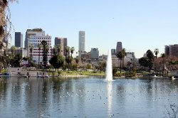 Los Angeles, California by MacArthur Park in Drive