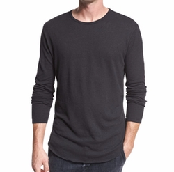 Raw-Hem Crewneck T-Shirt by Vince in Power