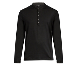 Long-Sleeved Wool Henley Shirt by John Varvatos in Shadowhunters