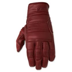Ronin Men's Oxblood Red Leather Gloves by Roland Sands Design in Mortdecai