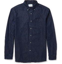 Button-Down Collar Denim Shirt by Alex Mill in Before I Wake