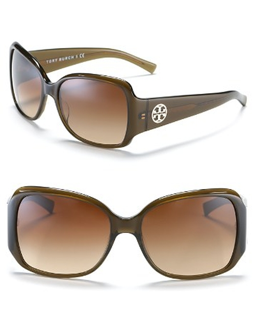Large Square Sunglasses by Tory Burch in Burn After Reading