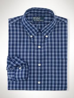 Custom-Fit Plaid Sport Shirt by Polo Ralph Lauren in What If