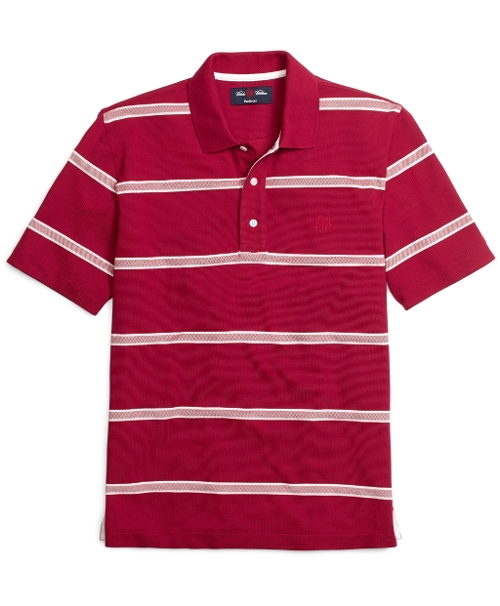 ProSport Vent Stripe Sailing Polo Shirt by Brooks Brothers in Unfriended