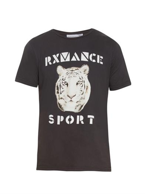 White Tiger-Printed Jersey T-Shirt by Rxmance in Boyhood