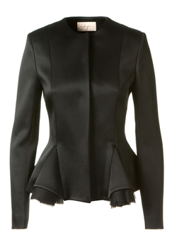 Satin Peplum Jacket by Christopher Kane in Suits