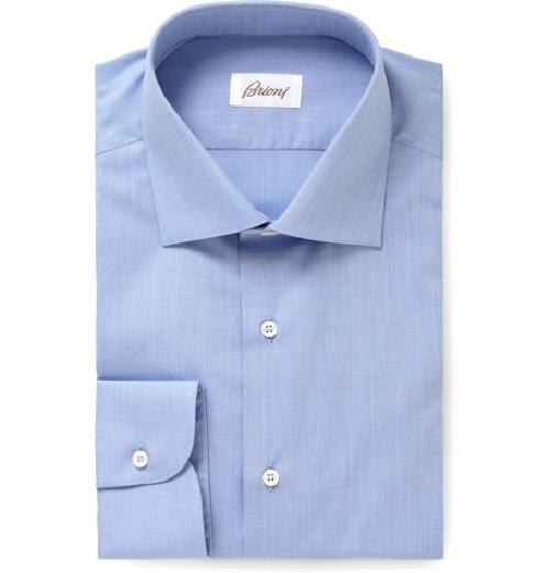 BLUE CLASSIC COTTON SHIRT by BRIONI in The Wolf of Wall Street