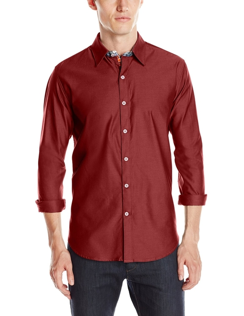 Central-Long Sleeve Button Down Shirt by Robert Graham in Valentine's Day