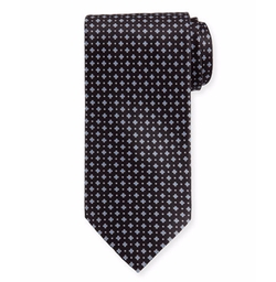 Neat Square Printed Silk Tie by Stefano Ricci in Billions