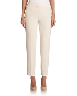 Crepe Ankle Pants by St. John in The Boss