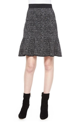 Flirt-Hem Tweed Skirt by Michael Kors in Suits