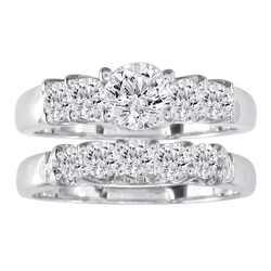 Diamond Bridal Engagement Ring Set by SuperJeweler in Boyhood