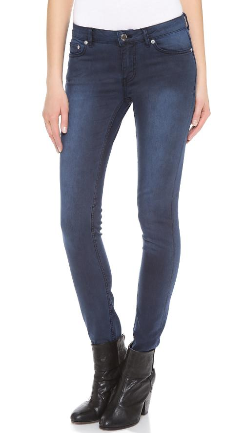 Low Rise Skinny Jeans by BLK DNM in Into the Storm