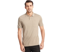 Printed Feeder Striped Polo Shirt by Van Heusen in Straight Outta Compton