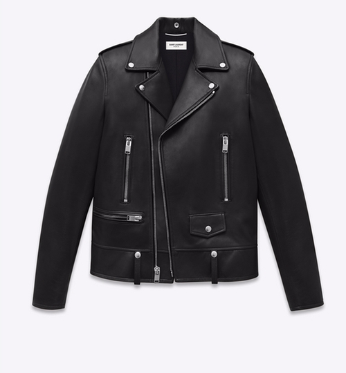 Leather Biker Jacket by Saint Laurent in Keeping Up With The Kardashians - Season 11 Episode 4