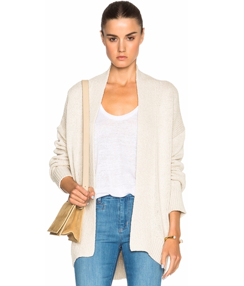 Open Cardigan Sweater by Nili Lotan in Keeping Up With The Kardashians - Season 12 Episode 12