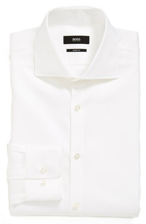 'Miles' Sharp Fit Check Dress Shirt by Boss Hugo Boss in While We're Young