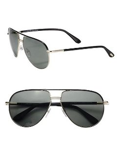 Cole Metal Aviator Sunglasses by Tom Ford Eyewear in Drive