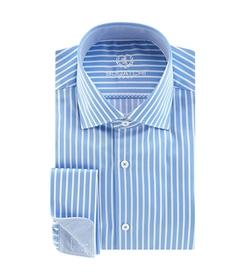 Spread-Collar Striped Dress Shirt by Bugatchi in Brooklyn Nine-Nine