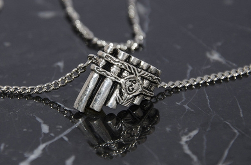 Eolian Talent Pipe Necklace by The Tinker's Packs in Pan