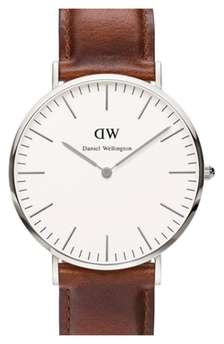 Classic St. Mawes Leather Strap Watch by Daniel Wellington in Mad Dogs