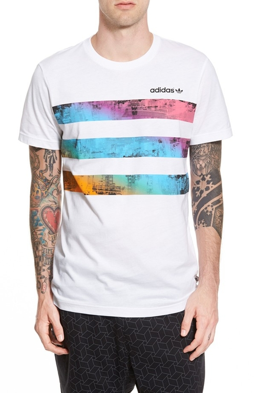 'Vibrant City' Crewneck T-Shirt by Adidas Originals in Chi-Raq