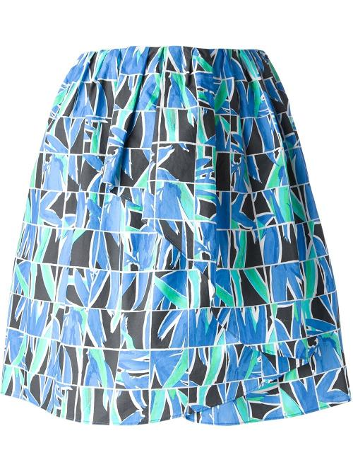 Mosaic Floral Print Skirt by Kenzo in Ride Along
