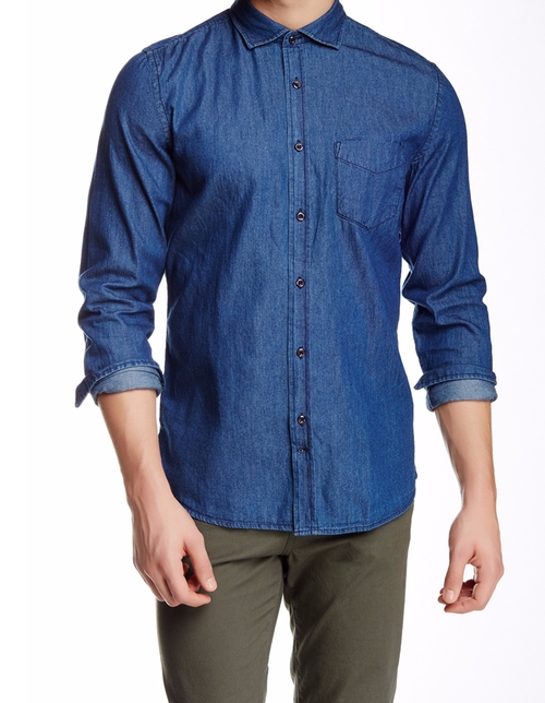 Dani 42 Chambray Shirt by J. Lindeberg in Urge