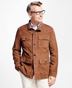 Suede Field Jacket by Brooks Brothers in Jack Ryan