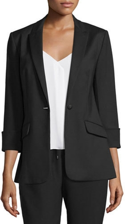 Alex Stretch Crepe Blazer by Elizabeth and James in Mistresses