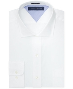 Slim-Fit Solid Dress Shirt by Tommy Hilfiger in New Girl