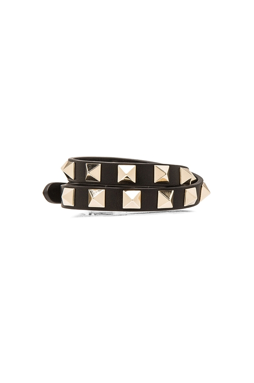 Rockstud Double Wrap Bracelet by Valentino in Rock The Kasbah