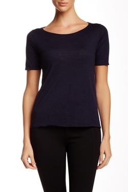 Scoop Neck Wool T-Shirt by Eileen Fisher in Billions