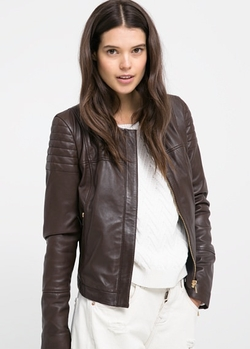 Leather Bomber Jacket by Mango in Independence Day: Resurgence