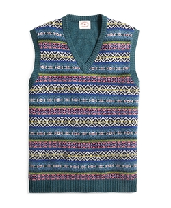 Fair Isle Sweater Vest by Brooks Brothers in The Big Bang Theory