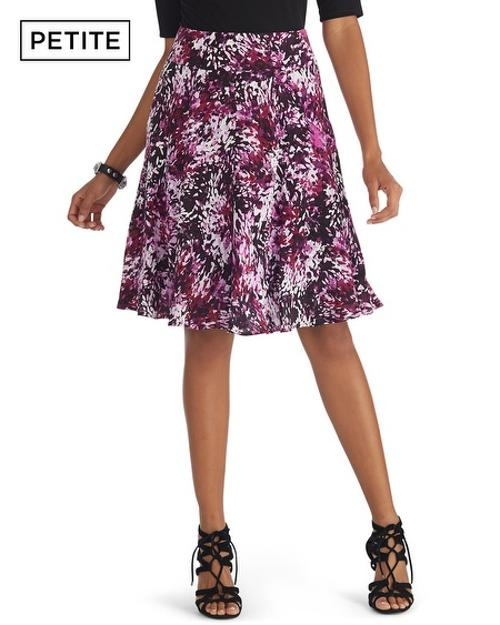 Petite Floral Printed Crepe Skirt by White House Black Market in The Other Woman