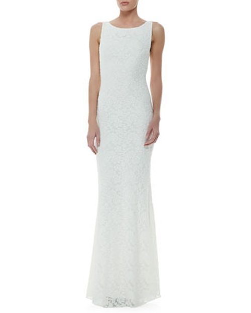 Sachi Open-Back Lace Gown by Alice + Olivia in Ricki and the Flash