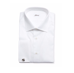 Diamond-Weave French-Cuff Shirt by Brioni in Suits