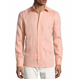 Crosshatched Linen Sport Shirt by Etro in Master of None