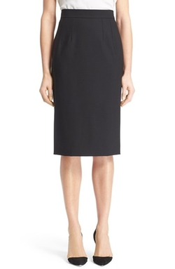 Stretch Wool Pencil Skirt by Dolce&Gabbana in Brooklyn