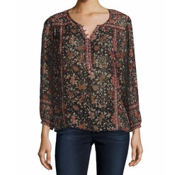 Rosalind Floral-Print Georgette Top by Joie in The Blacklist