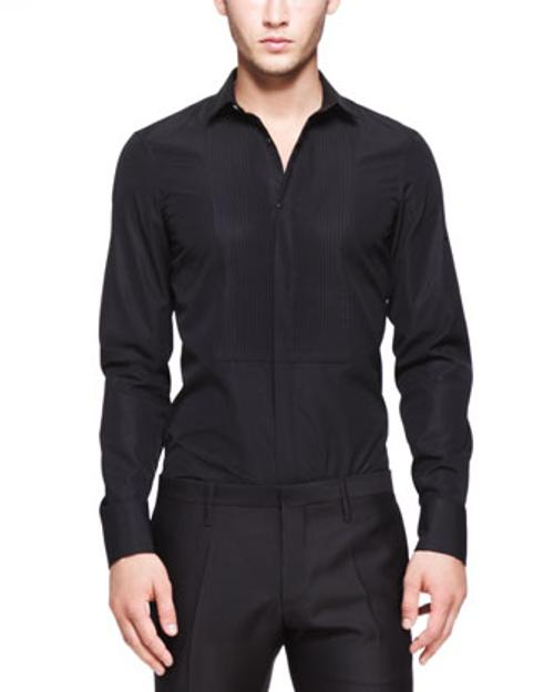 Tuxedo Shirt with Pleated Bib by Dsquared2 in Get On Up