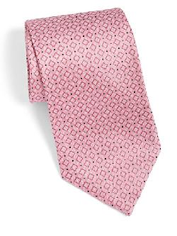 Diamond Print Silk Tie by Brioni in Blended