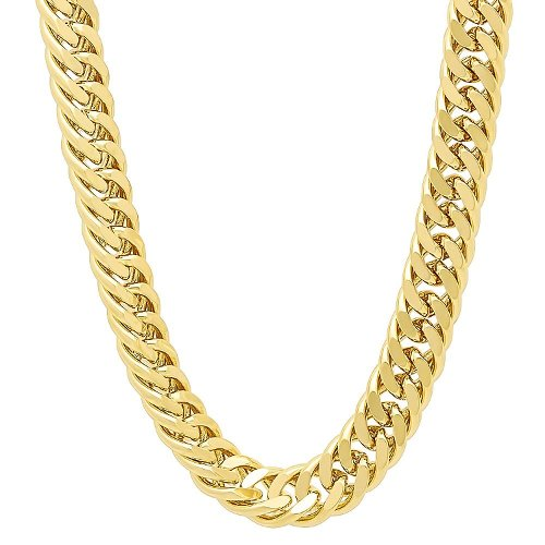 Classic Double Open Curb Link Chain Necklace by Thug Fashion Collection in Get Hard