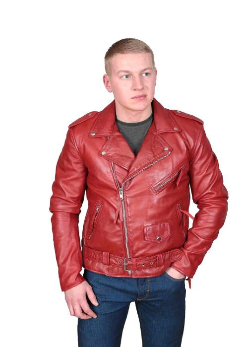 Men's Biker Style Leather Jacket by A1 Fashion Goods in New Year's Eve