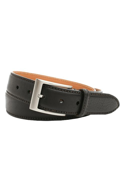 'Brandon' Leather Belt by Trafalgar in Neighbors