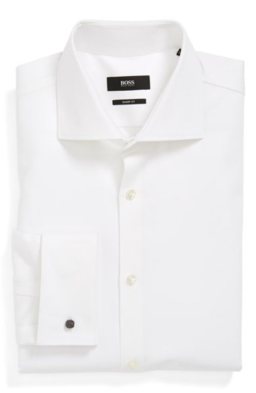 Slim Fit Dress Shirt by Boss Hugo Boss in Taken 3