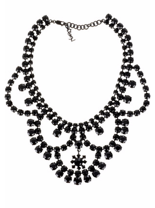 Layer Crystal Necklace by Yves Saint Laurent in Gossip Girl - Series Looks